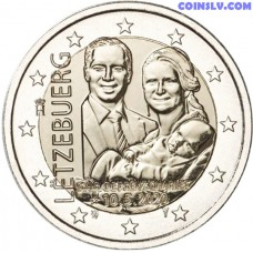 2 Euro Luxembourg 2020 - The birth of Prince Charles (relief)