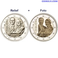 2 Euro Luxembourg 2020 - The birth of Prince Charles (relief+foto)