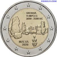2 Euro Malta 2020 - Pre-historic Temples of Skorba