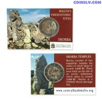Coincard 2 Euro Malta 2020 - Pre-historic Temples of Skorba