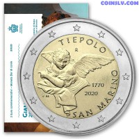 2 Euro San Marino 2020 - 250th anniversary of the death of Giambattista Tiepolo