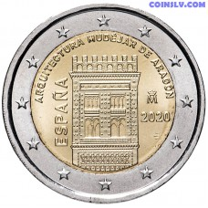 2 Euro Spain 2020 - Aragón and the Aragonese Mudejar architecture