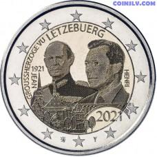 2 Euro Luxembourg 2021 - The 100th anniversary of the Grand Duke Jean (foto)
