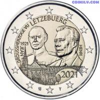 2 Euro Luxembourg 2021 - The 100th anniversary of the Grand Duke Jean (relief)