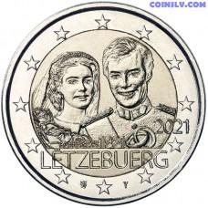 2 Euro Luxembourg 2021 - Marriage of Grand Duke Henri (relief)