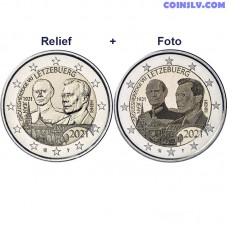 2 Euro Luxembourg 2021 - The 100th anniversary of the Grand Duke Jean (relief+foto)