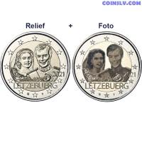 2 Euro Luxembourg 2021 - Marriage of Grand Duke Henri (relief+foto)