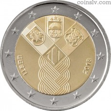 2 Euro Estonia 2018 - 100th Anniversary of the Independence of the Baltic States