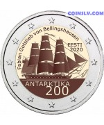 2 Euro Estonia 2020 - 200th anniversary of the discovery of Antarctica