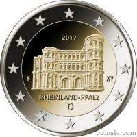 "2 Euro Germany 2017 ""Rhineland-Palatinate ""Porta Nigra in Trier"""" (F)"