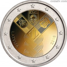 2 euro Latvia 2018 - 100th Anniversary of the Independence of the Baltic States