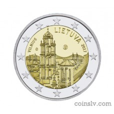 "2 Euro Lithuania 2017 ""Vilnius — capital of culture and art"""