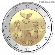 "2 Euro Malta 2017 ""Solidarity and peace"""