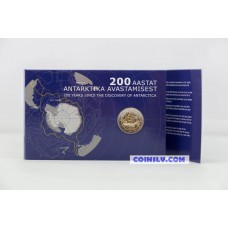 Coincard 2 Euro Estonia 2020 - 200th anniversary of the discovery of Antarctica