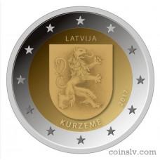 """2 Euro Latvia 2017 """"Kurzeme"""""""