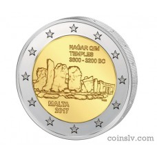 "2 Euro Malta 2017 ""Maltese prehistoric temples of Hagar Qim"""