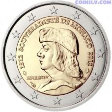 2 euro Monaco 2012 - Monaco's Sovereignty, by founder Lucien 1er Grimaldi