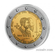 "2 Euro Vatican 2017 ""1950th anniversary of the martyrdom of Saint Peter and Saint Paul"""