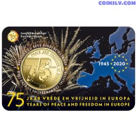 2.5 Euro Belgium 2020 - 75 years of peace and freedom in Europe