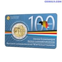 2 Euro Belgium 2021 - Belgian-Luxembourg Economic Union (BLEU) (FR version coincard)