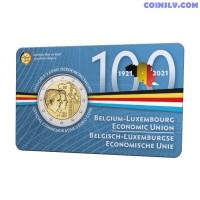 2 Euro Belgium 2021 - Belgian-Luxembourg Economic Union (BLEU) (NL version coincard)