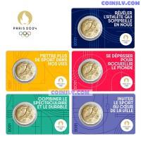 2 Euro France 2021 - Olympic Games Paris 2024 (1 random card)