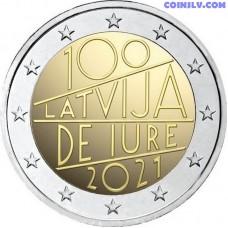 2 Euro Latvia 2021 - The 100th anniversary of Latvia's international recognition de iure