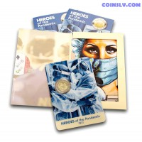 2 Euro Malta 2021 - Heroes of the Pandemic (BU coincard)