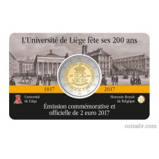 "2 Euro Belgium 2017 ""200th anniversary of the University of Liège"""