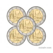 "5 X 2 euro Germany 2013 ""Baden-Württemberg ""Maulbronn Monastery"""" (ADFGJ)"