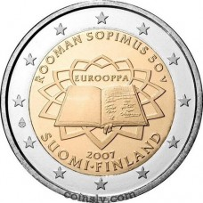 "2 euro Finland 2007 ""50th anniversary of the signing of the Treaty of Rome"""