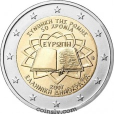 "2 euro Greece 2007 ""50th anniversary of the signing of the Treaty of Rome"""