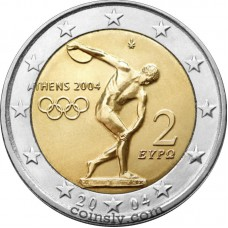"2 euro Greece 2004 ""Olympic Games in Athens 2004"""
