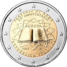 "2 euro Italy 2007 ""50th anniversary of the signing of the Treaty of Rome"""