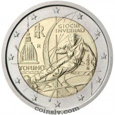"2 euro Italy 2006 ""XX Olympic Winter Games - Turin"""