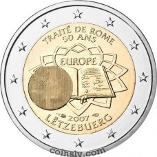 "2 euro Luxembourg 2007 ""50th anniversary of the signing of the Treaty of Rome"""
