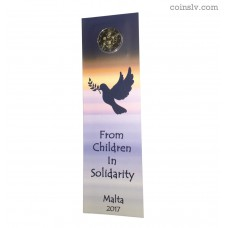 "Coincard 2 Euro Malta 2017 ""Solidarity and peace"""