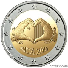 "2 Euro Malta 2016 ""Solidarity through Love"""