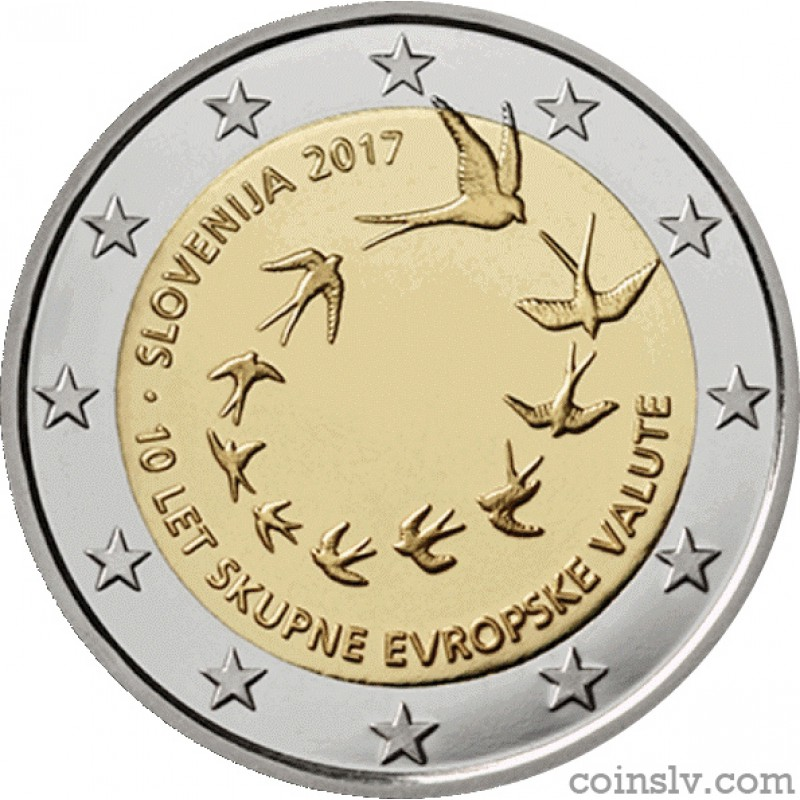 2 euro slovenia 2017 the 10 years of the euro in slovenia. Black Bedroom Furniture Sets. Home Design Ideas