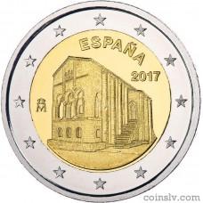 "2 Euro Spain 2017 ""Churches of the Kingdom of Asturias"""