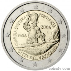 "2 euro Vatican 2006 ""5th centenary of the Swiss Pontifical Guard"""