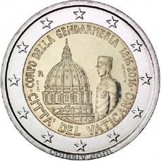 "2 Euro Vatican 2016 ""200th anniversary of the Gendarmerie Corps of Vatican City State"""