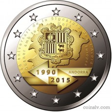"2 Euro Andorra 2015 ""25th anniversary of the Signature of the Customs Agreement with the EU"""