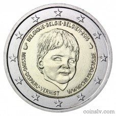 "2 Euro Belgium 2016 ""International Missing Children's Day"""