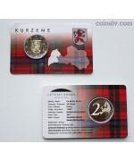 "Coincard 2 euro Latvia 2017 ""Kurzeme"""