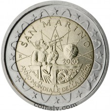 "2 euro San Marino 2005 ""World Year of Physics"""