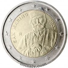 "2 euro San Marino 2007 ""200th anniversary of the birth of Giuseppe Garibaldi"""