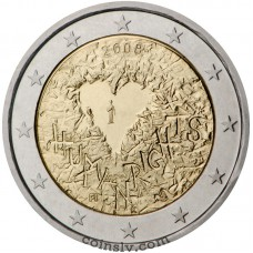 "2 euro Finland 2008 ""60th anniversary of the Universal Declaration of Human Rights"""
