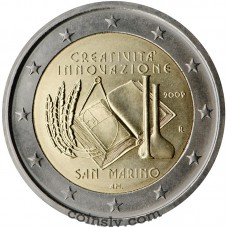 "2 euro San Marino 2009 ""European Year of Creativity and Innovation"""
