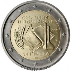 "2 euro San Marino 2009 ""European Year of Creativity and Innovation"""